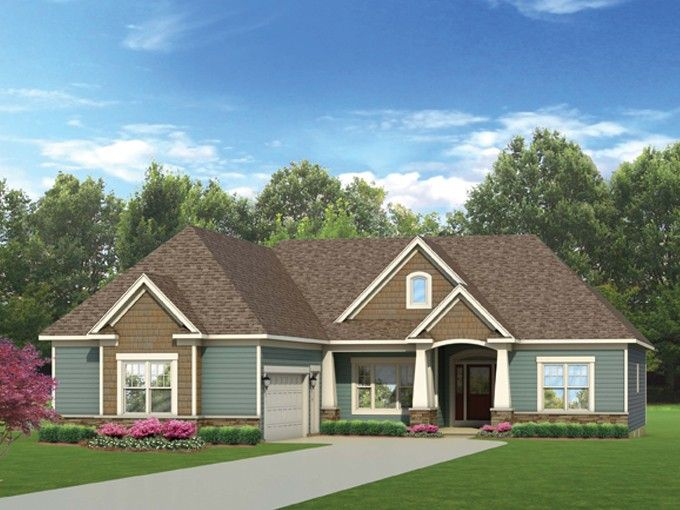 Home Plan HOMEPW75982 - 2182 Square Foot, 3 Bedroom Study 2 Bathroom Craftsman Home with 2 Garage Bays | Homeplans.com