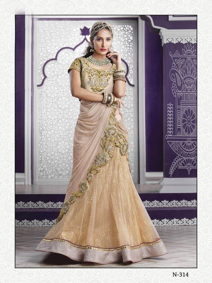 buy saree online Light Beige Colour Net Designer Wedding Wear Lehenga Choli Buy Saree online UK  - Buy Sarees online