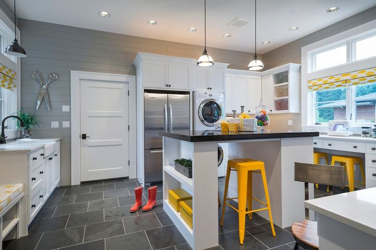 laundry sewing room laundry room farmhouse with pop of color modern home electronics