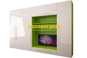 Встроенная стенка с тумбой под телевизор