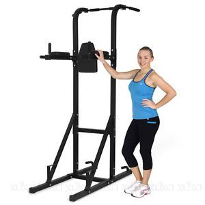 CHIN UP AB STATION HOME GYM EXERCISE EQUIPMENT TOWER MULTI STRENGTH TRAINING