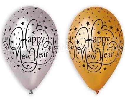 "Balóny "" Happy New Year - Premium - GS "" Ø 30 cm, metalíza,"