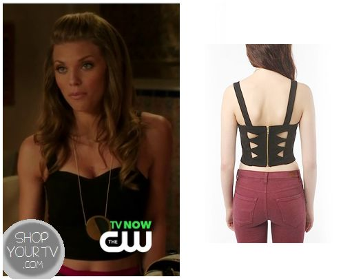 90210: Season 5 Episode 2 Naomi's Black Cut out Bustier | ShopYourTvShopYourTv
