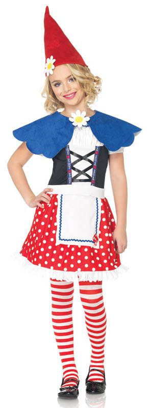 Gnome Costume Girls Garden Gnome Costume @Robyn Huth or @Erica Nicole I think one of you could pull this off.