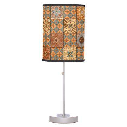 #Vintage mosaic talavera ornament desk lamp - #home #lamps #decor #lamp #tablelamp #tablelamps #home #living