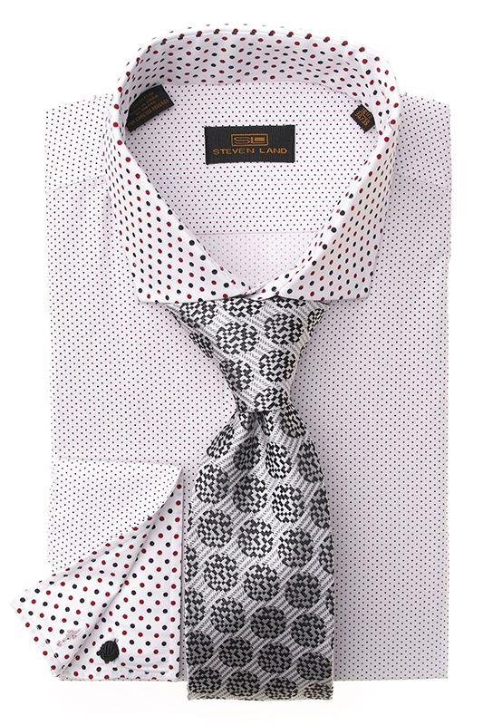 steven land dress shirts ds1247 white 69 stevenland