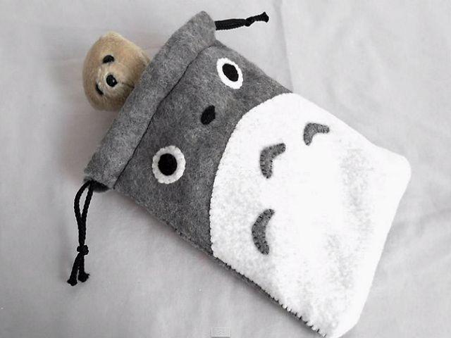 DIY Totoro Drawstring Bag Tutorial