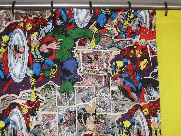 Curtains Ideas comic shower curtain : Comic Shower Curtains | Uncanny Adventures in Comic Costume ...