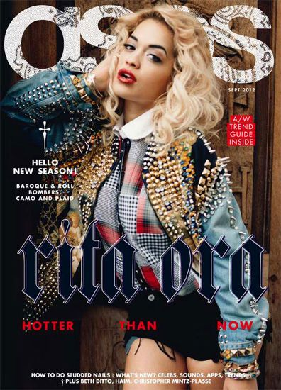 Rita Ora plaids up the @asos.com.com.com cover.