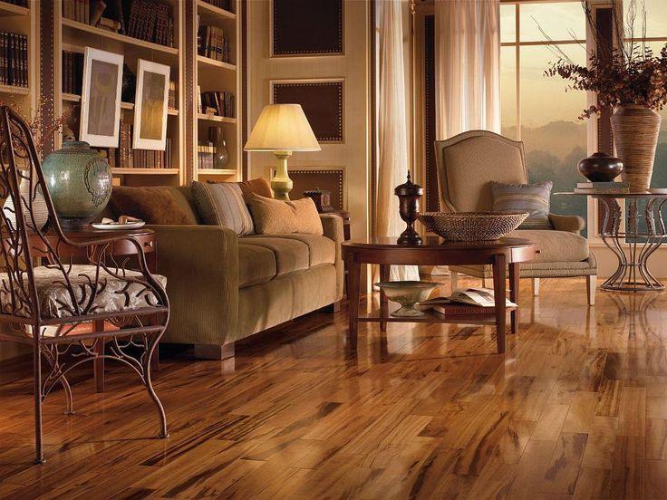 Dřevěné plovoucí podlahy.