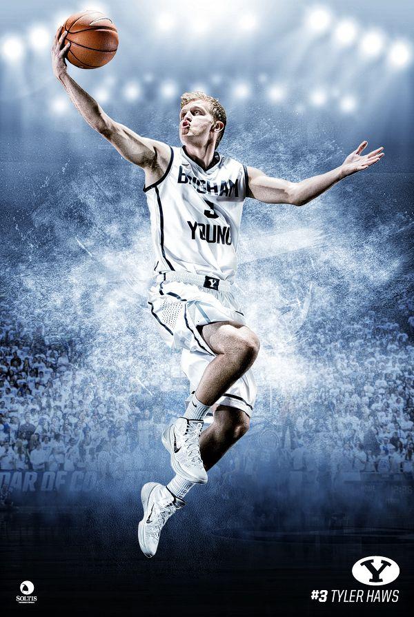BYU Basketball 2013-2014 by Kimberly Cook, via Behance
