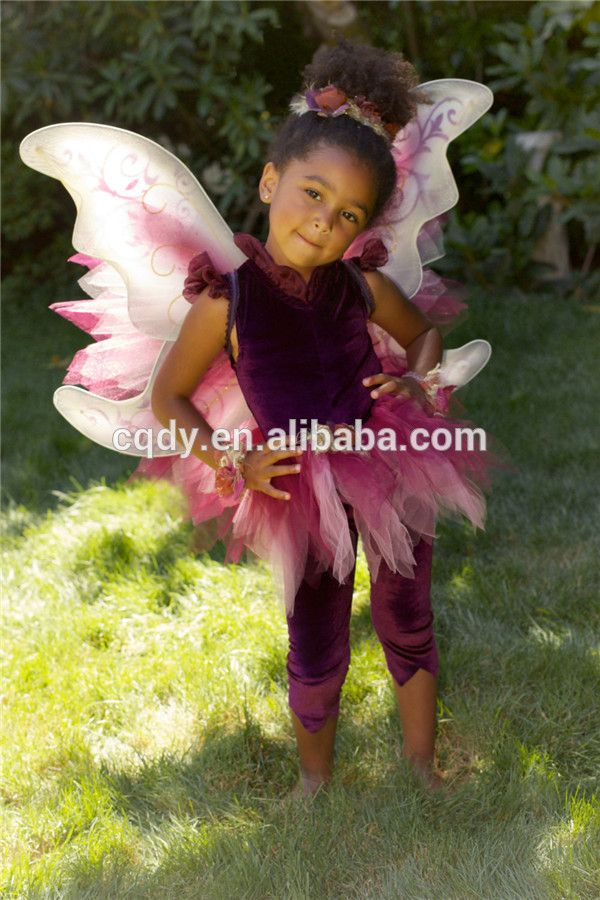 2015 fairy fancy children kids butterfly costumes with wings girls fancy party dresses butterfly costumes for kids infant