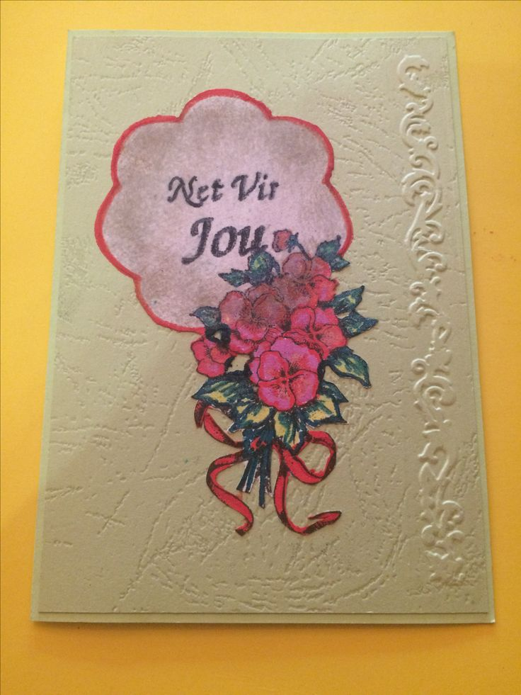 Just for you card - embossed & stamped