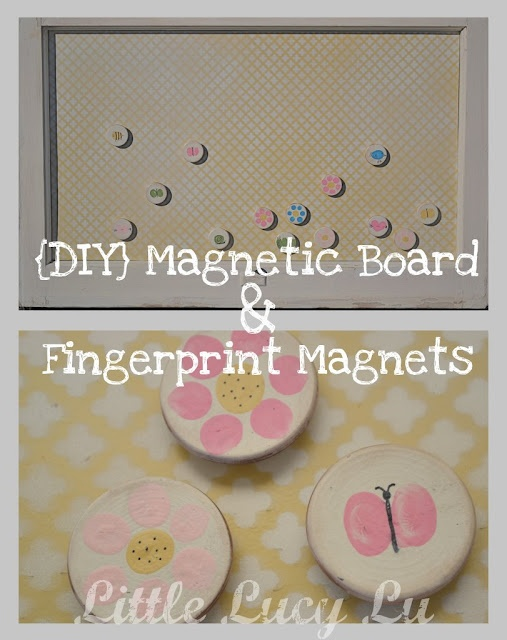 Vintage Magnetic Board and Magnets