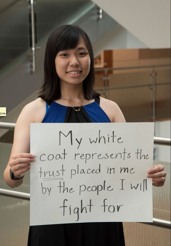 First-year medical students at Washington University reflect on what it means to wear the white coat. | White Coat Ceremony