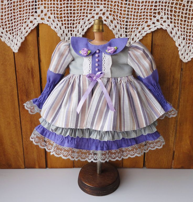 https://flic.kr/p/22y5kWn | Doll dress | Doll dress, doll clothing, 15 inch doll outfit, collection of Disney Princess • Dress: long-sleeved top. The lower part of the dress is layered with three ruffles.  • The lower part of the sleeves of the dress stretched. www.etsy.com/listing/566482594/doll-dress-doll-clothing-1...
