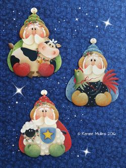 "#704 ""Christmas Farm Animals Ornaments (PATTERN)"