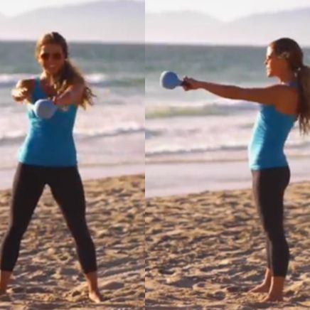 The Tone It Up Girls Share a Calorie-Blasting Kettlebell Workout    I have been wanting a kettleball workout