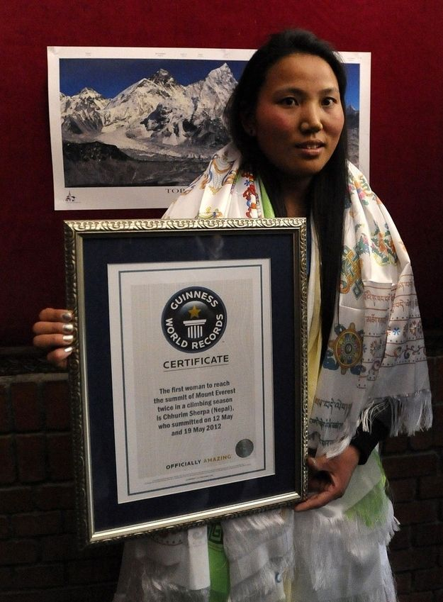 Chhurim Sherpa, the first woman to scale Mount Everest twice in a single season.