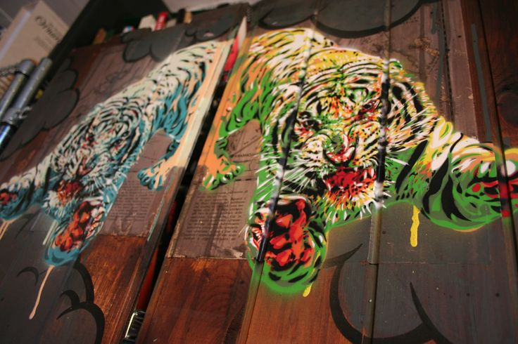 Noah's ark and the lion Work in progress by DAvid Diavù Vecchiato for THE END IS THE BEGINNING #art #lion #animals #gallery #rome #lowbrow