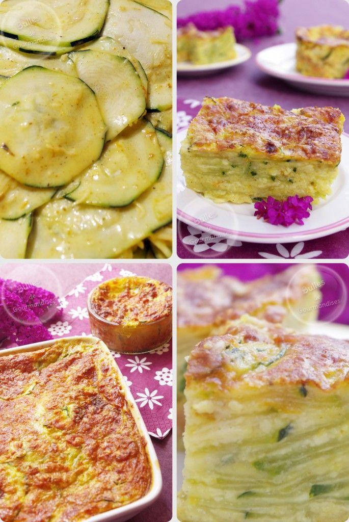 Gâteau invisible courgettes curry et gruyère