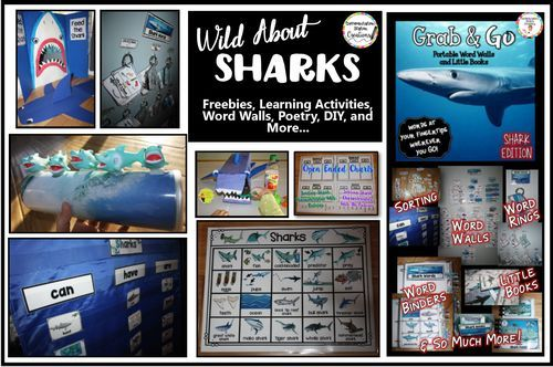 Wild About Sharks + Freebie. Tons of interactive learning fun that is all about sharks! Great for shark week or any time! Free interactive tree map.