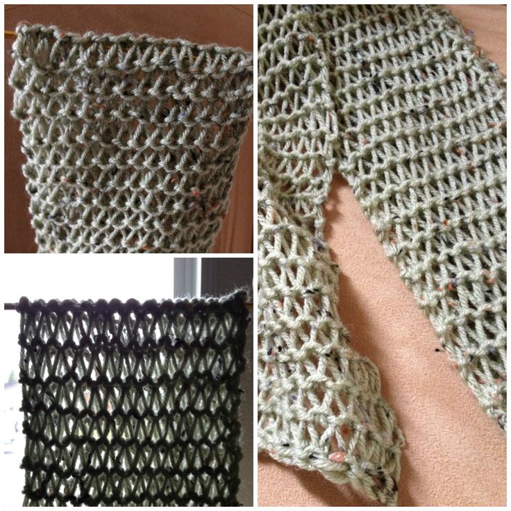 Knit Scarf Pattern Size 5 Needles : This is a Condo Stitch Scarf. It was knit with a size 19 needle and a size 6 ...
