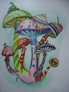 Magic Mushroom Drawings | Magic mushrooms by ~SuoKaralius on deviantART
