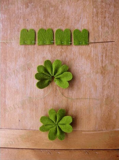 Easy felt tutorial- four leaf clover