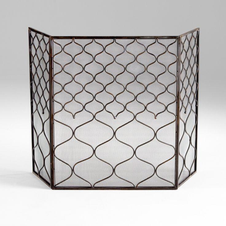 Blakewell Transitional Bronze Iron Fireplace Screen by Cyan Design