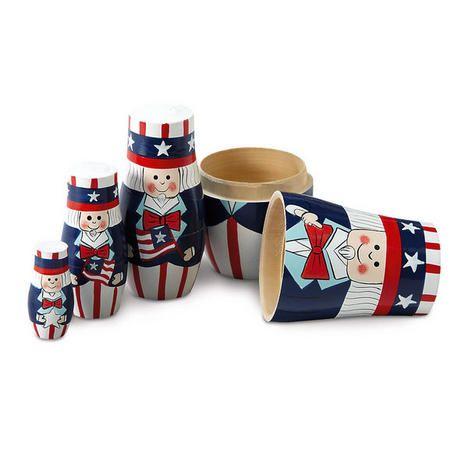 Modern American Nesting Dolls $8.99