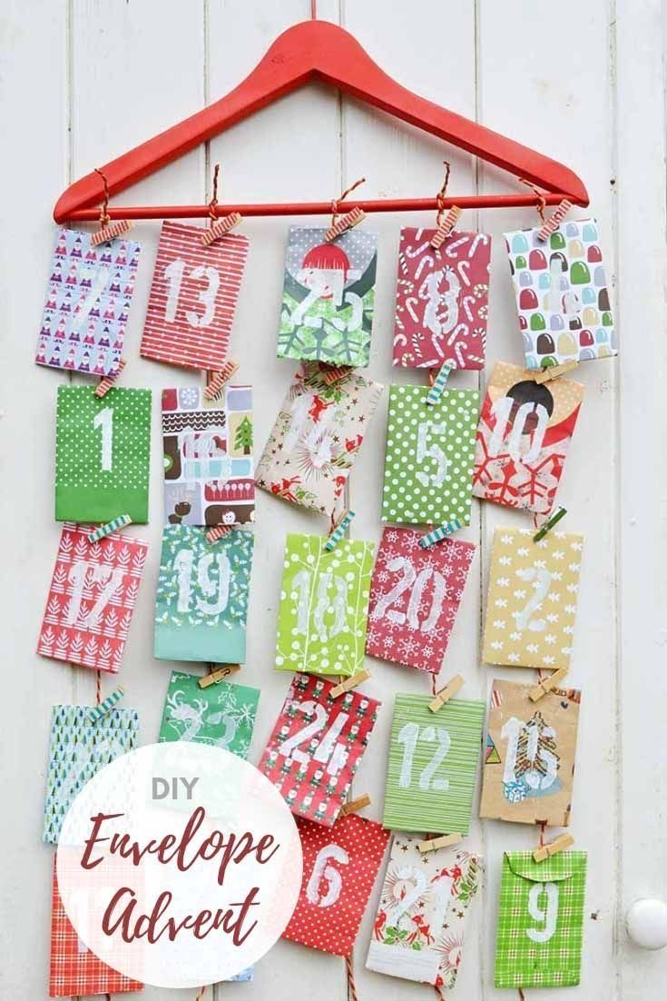 Homemade Paper Envelope Advent Calendar in 2020 | Christmas paper