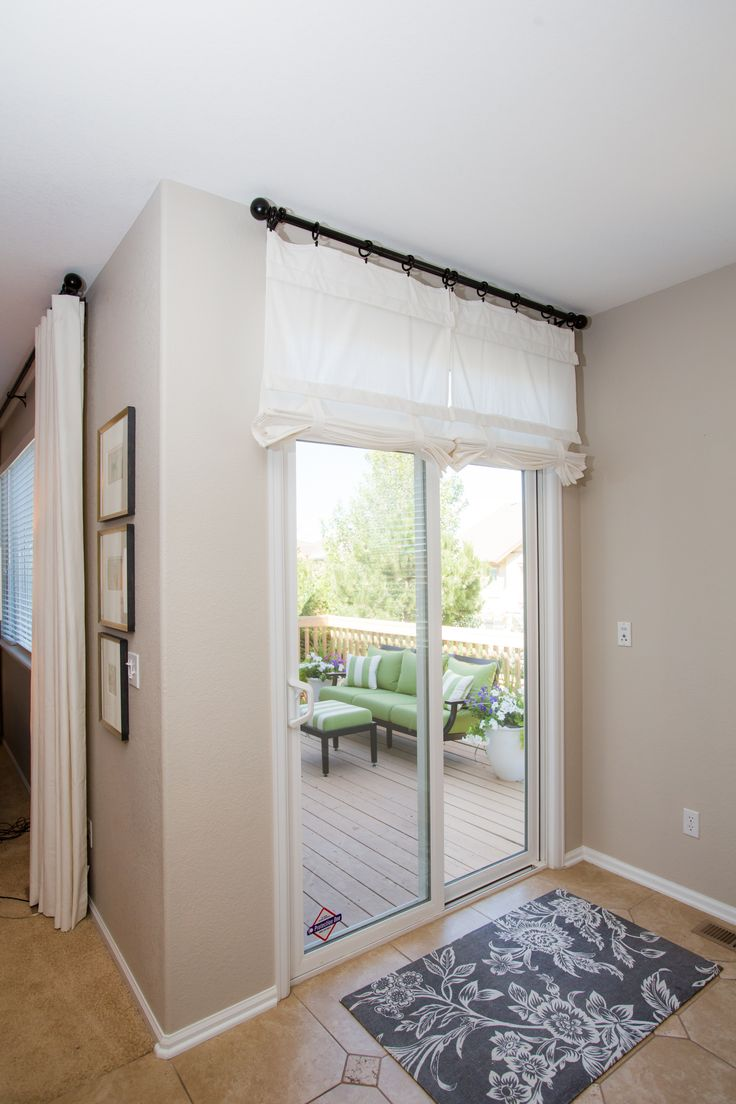 White Sliding Glass Door Curtain Shade See More Ideas
