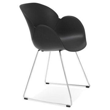 Chaise design et contemporaine TESTA (NOIR)