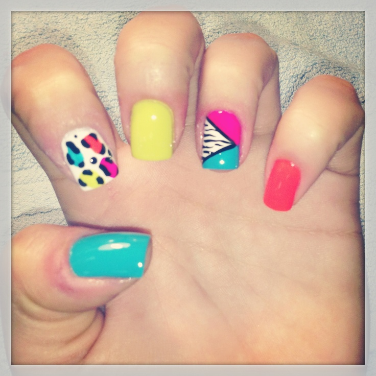 My nail lady is better than yours! ...80s nails