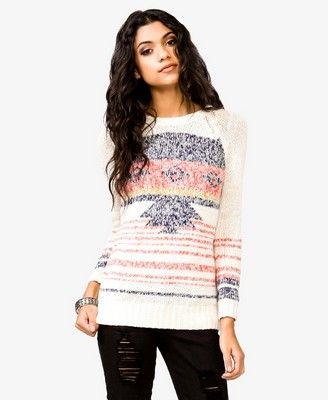 Marled Southwestern Sweater | FOREVER 21 - 2031557676