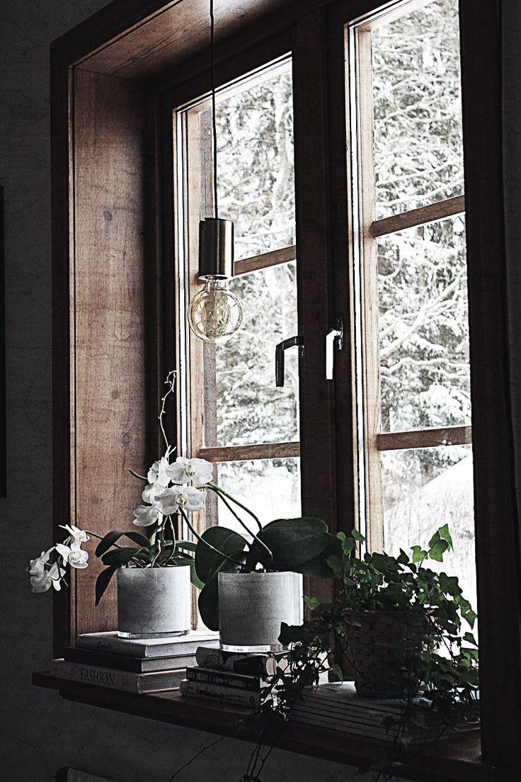 » Lampa utan skärm i fönster!