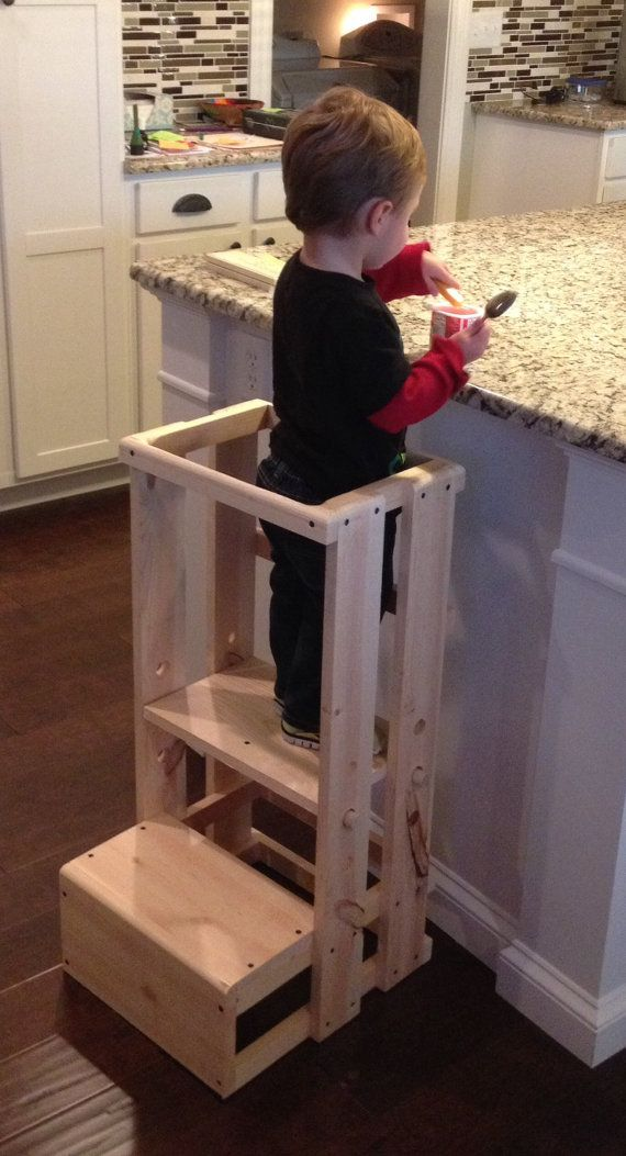 Child Kitchen Helper Step Stool by TeddyGramsTotTowers on Etsy : toddler step up stool - islam-shia.org