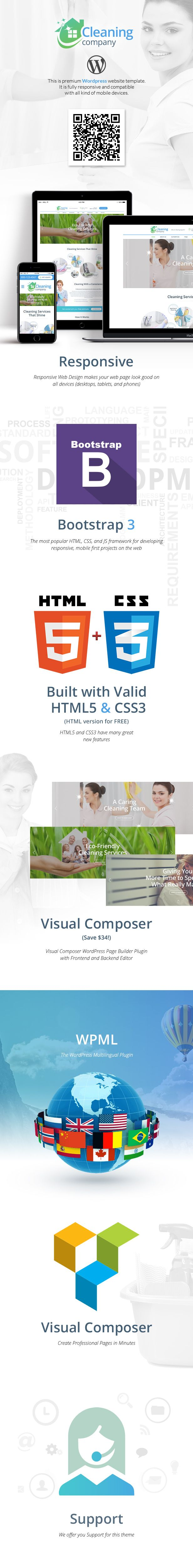Cleaning Services – House Cleaning Services theme is a modern, clean and professional WordPress theme which is specially created to spread and represent your cleaning services business to your pote...