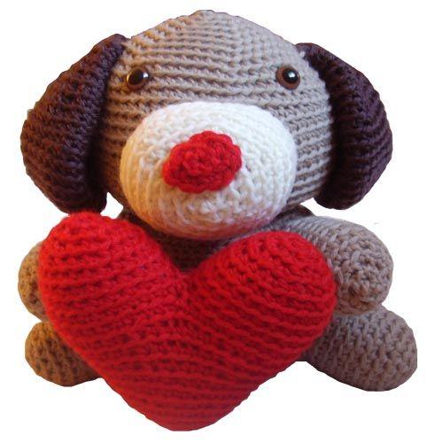 Valentine Dog Stuffed Animal Crochet Pattern
