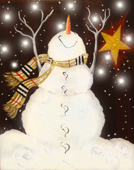 snowman paint night - Google Search