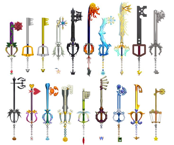 Kingdom Hearts Keyblades by o0DemonBoy0o.deviantart.com on @deviantART