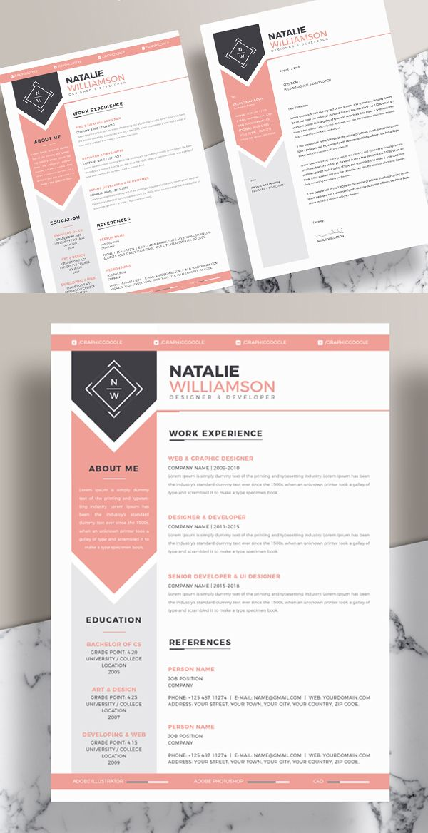 25 Fresh Free Professional Resume Templates - 19 cv Pinterest