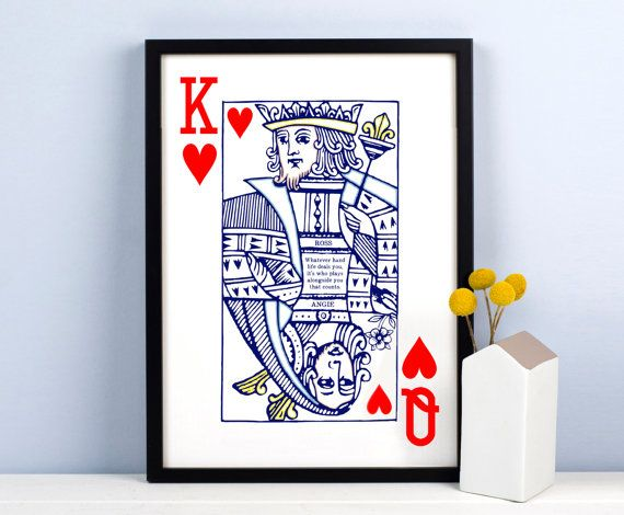 Hey, I found this really awesome Etsy listing at https://www.etsy.com/listing/271451839/personalised-playing-card-print-queen-of
