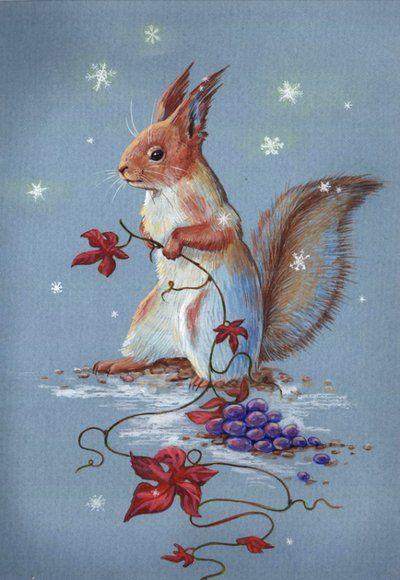 Squirrel by BoggartOwl on deviantART