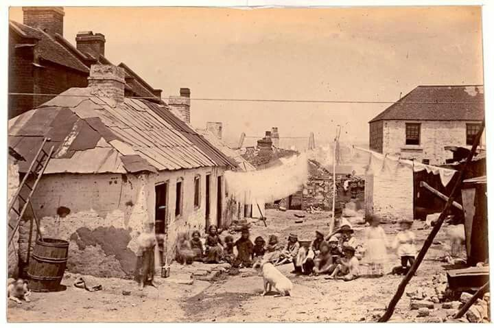 The Rocks,Sydney in 1875.