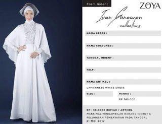 DISTRIBUTOR ZOYA : DRESS IVAN GUNAWAN FOR ZOYA COLLECTION
