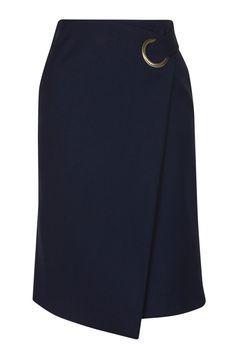 Premium Wrap Midi Skirt