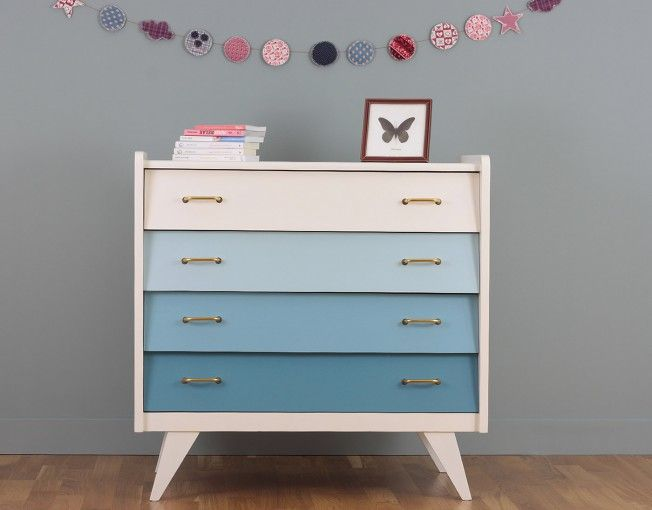 commode bleue meuble vintage toulouse