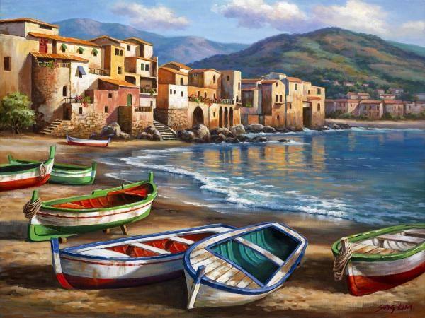 Sung Kim - Spiaggia Della Citta - Fine Art Print - Global Gallery
